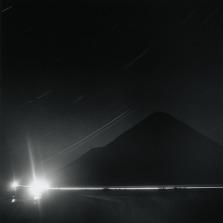 Long exposure of the night sky.